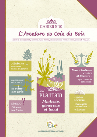 Couverture Cahier plantes sauvages n°01